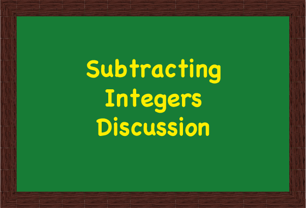 Icon for Subtraction of Integers