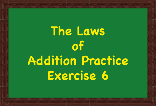 Icon for The Laws of Addition Practice